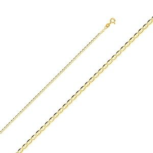 14K Yellow 2mm Flat Mariner Chain - 24""